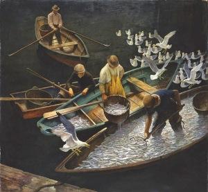 Dark Harbor, 1943 N.C. Wyeth