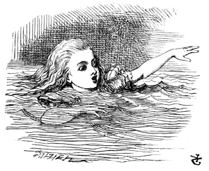 Alice in Wonderland, Chapter 2, Illustration by John Tenniel