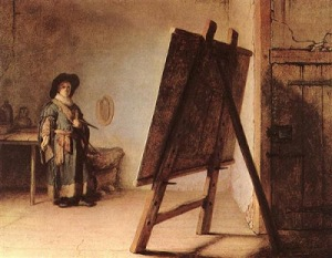 Artist in his Studio by Rembrandt