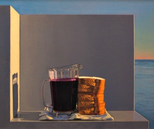 David Ligare still-life-with-grape-juice-and-sandwiches-xenia-1994