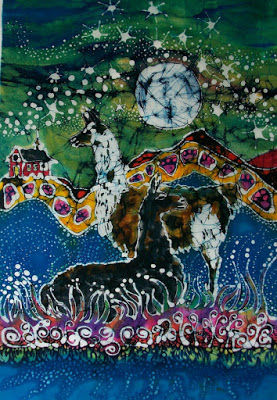 Hills Alive with Llamas - batik card set.jpg
