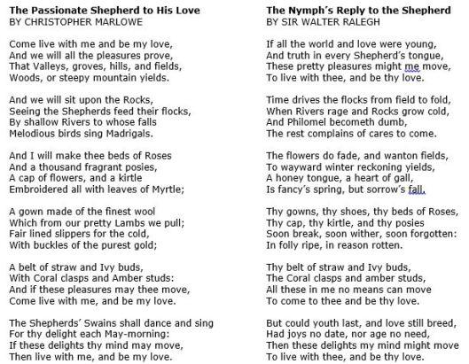 Marlowe poem