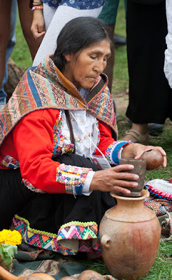Alpaca blessing ceremony by a Huanca Shaman