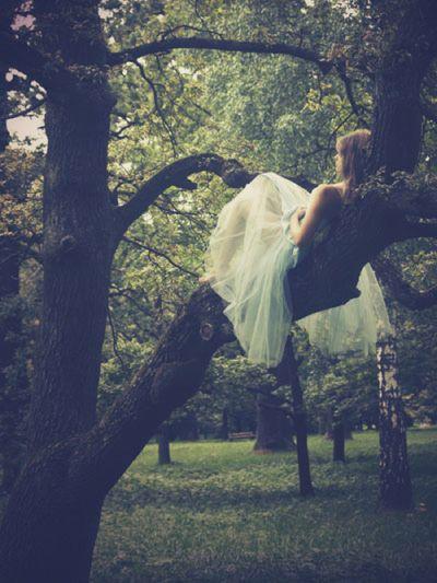 girl, tree