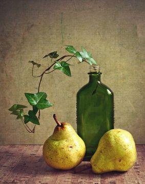 bottle, pears