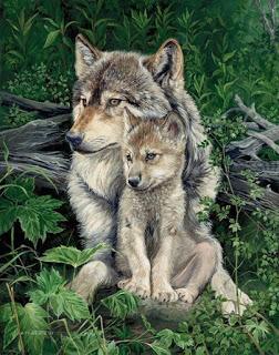 wolf mom