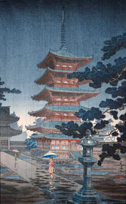 Horyuji Temple (woodblock print)