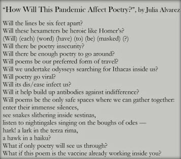 Poem by Julia Alvarez